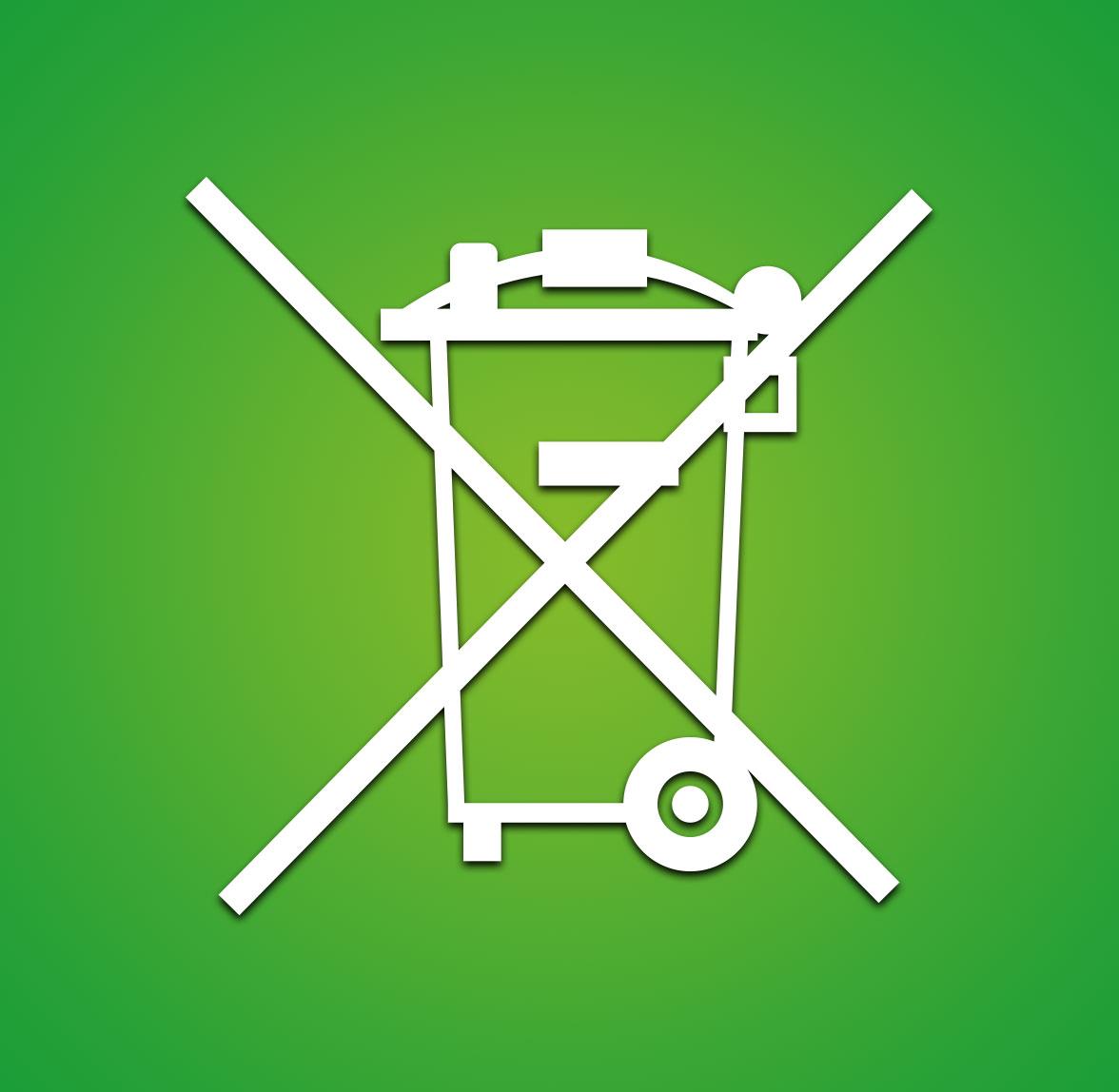 Reciclaje contenedor electrónico símbolo
